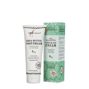 Pure Shea Butter Foot and Leg Cream - Peppermint Menthol and Tea Tree | GNC