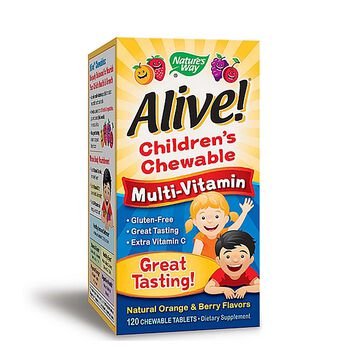 Alive!® Children's Chewable Multi-Vitamin - Natural Orange and Berry Flavors | GNC