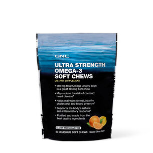 Ultra Strength OMEGA-3 Soft Chews - Citrus | GNC