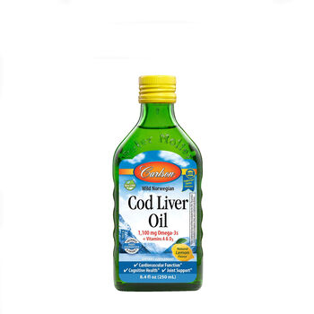 Cod Liver Oil - Natural Lemon Flavor | GNC
