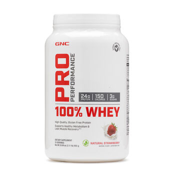 100% Whey - Natural StrawberryNatural Strawberry | GNC