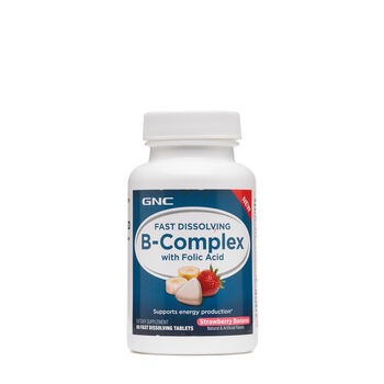 Fast Dissolving B-Complex - Strawberry Banana | GNC
