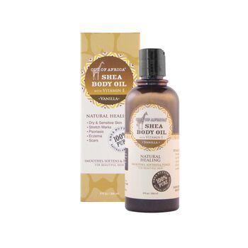Shea Body Oil with Vitamin E - Vanilla | GNC