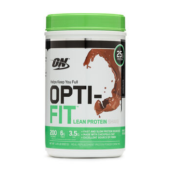 OPTI-FIT™ Lean Protein Shake - ChocolateChocolate | GNC