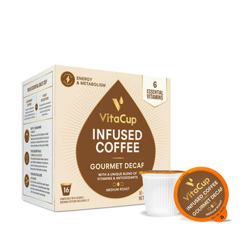 Vitamin Infused Coffee Pods - Gourmet Decaf Blend | GNC