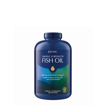 Gnc triple strength fish oil 360ct support brain eye for Triple strength fish oil