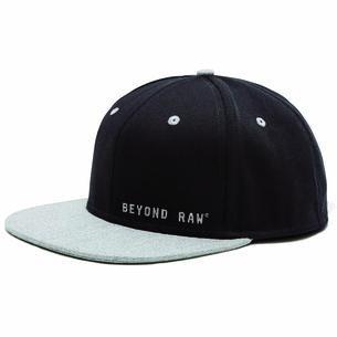 Flat Bill Black Hat, Gray Bill | GNC