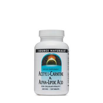 Acetyl L-Carnitine & Alpha-Lipoic Acid 60 MG | GNC