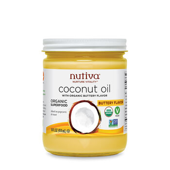 Organic Coconut Oil with Non-Dairy Butter Flavor | GNC