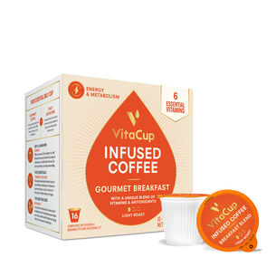 Vitamin Infused Coffee Pods - Gourmet Breakfast Blend | GNC