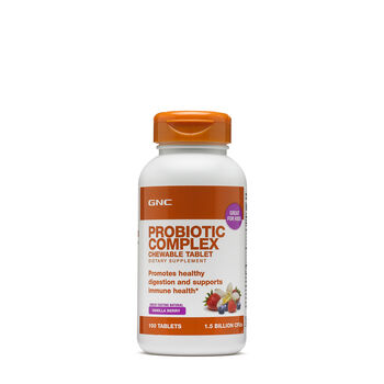 Probiotic Complex Chewable Tablet - Vanilla Berry | GNC