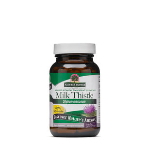 GNC 밀크시슬 Nature's Answer Milk Thistle 80% Silymarin