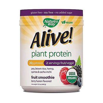Alive!® Plant Protein - Berry FusionBerry Fusion | GNC