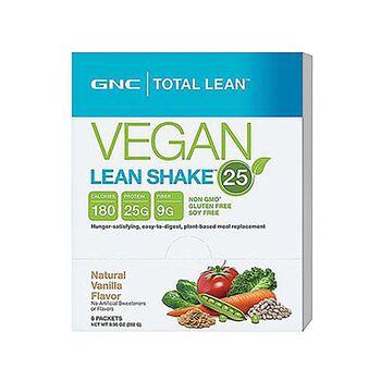 Gnc Total Lean Vegan Lean Shake 25 Natural Vanilla
