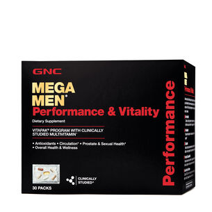 Mega Men® Performance & Vitality Vitapak® Program | GNC