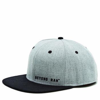 Flat Bill Gray Hat, Black Bill | GNC