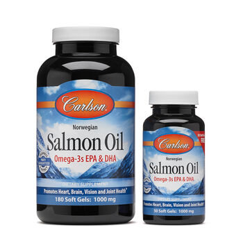 Carlson salmon oil omega 3s epa dha gnc for Salmon fish oil
