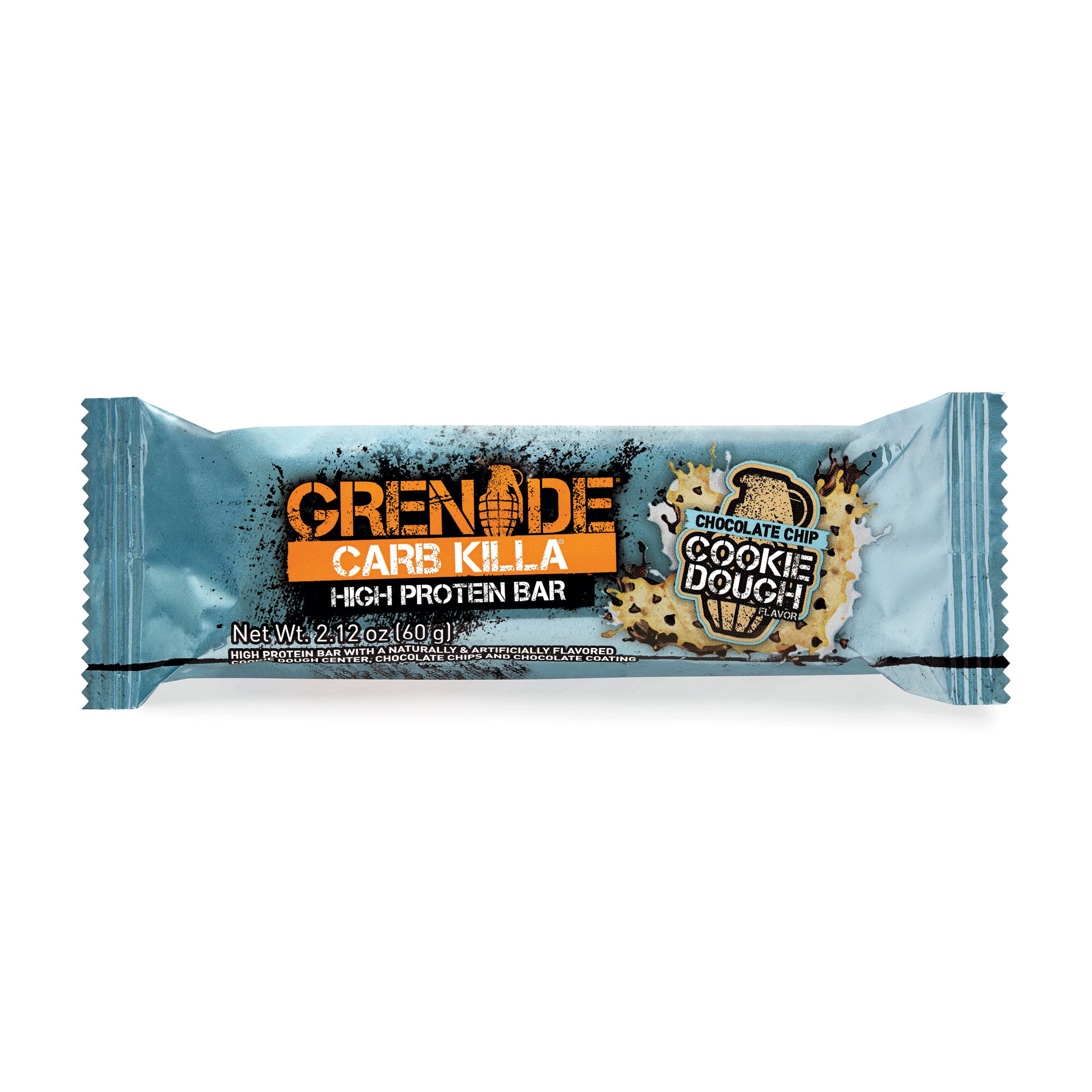 Carb KillaChocolate Chip Cookie Dough 1 Bar GrenadePre & Post Workout Bars