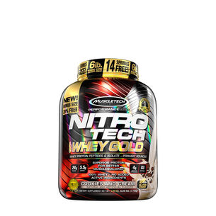 Nitro Tech 100% Whey Gold - Cookies and CreamCookies and Cream | GNC