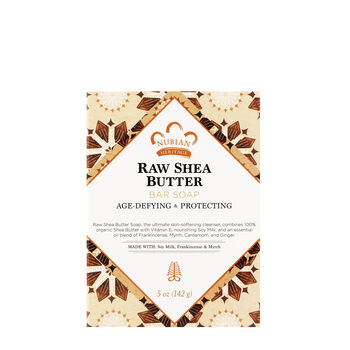 Raw Shea Butter Bar Soap with Soy Milk Frankincense & Myrrh | GNC