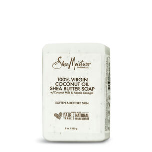 100% Virgin Coconut Oil Shea Butter Soap with Coconut Milk and Acacia Senegal | GNC