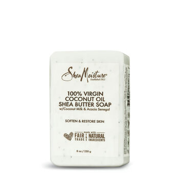 100% Virgin Coconut Oil Shea Butter Soap with Coconut Milk and Acacia Senegal | GNC