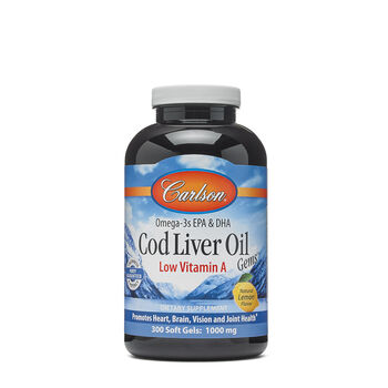 Cod Liver Oil Gems™ - Low Vitamin A - Lemon | GNC