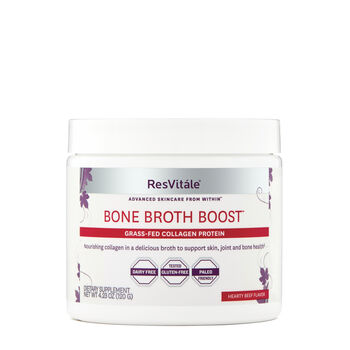 Bone Broth Boost Grass-Fed Collagen Protein - Hearty Beef Flavor | GNC