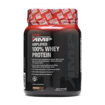 Amplified 100% Whey Protein - ChocolateChocolate | GNC