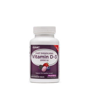 Fast Dissolving Vitamin D-3 2000 IU - Mixed Berry | GNC