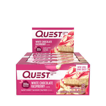 Quest Bar – White Chocolate RaspberryWhite Chocolate Raspberry | GNC