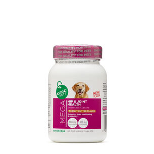 Mega Hip and Joint Health - Senior Dogs - Peanut Butter Flavor | GNC