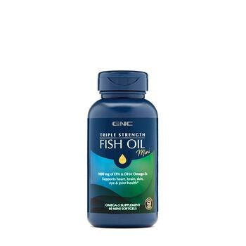 Gnc triple strength fish oil mini gnc for Triple strength fish oil