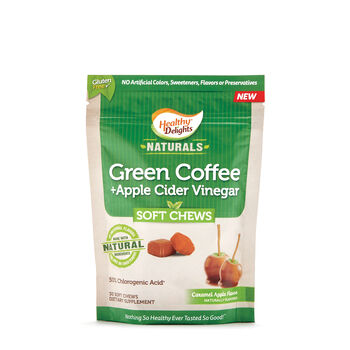 Green Coffee + Apple Cider Vinegar Soft Chews - Caramel Apple | GNC
