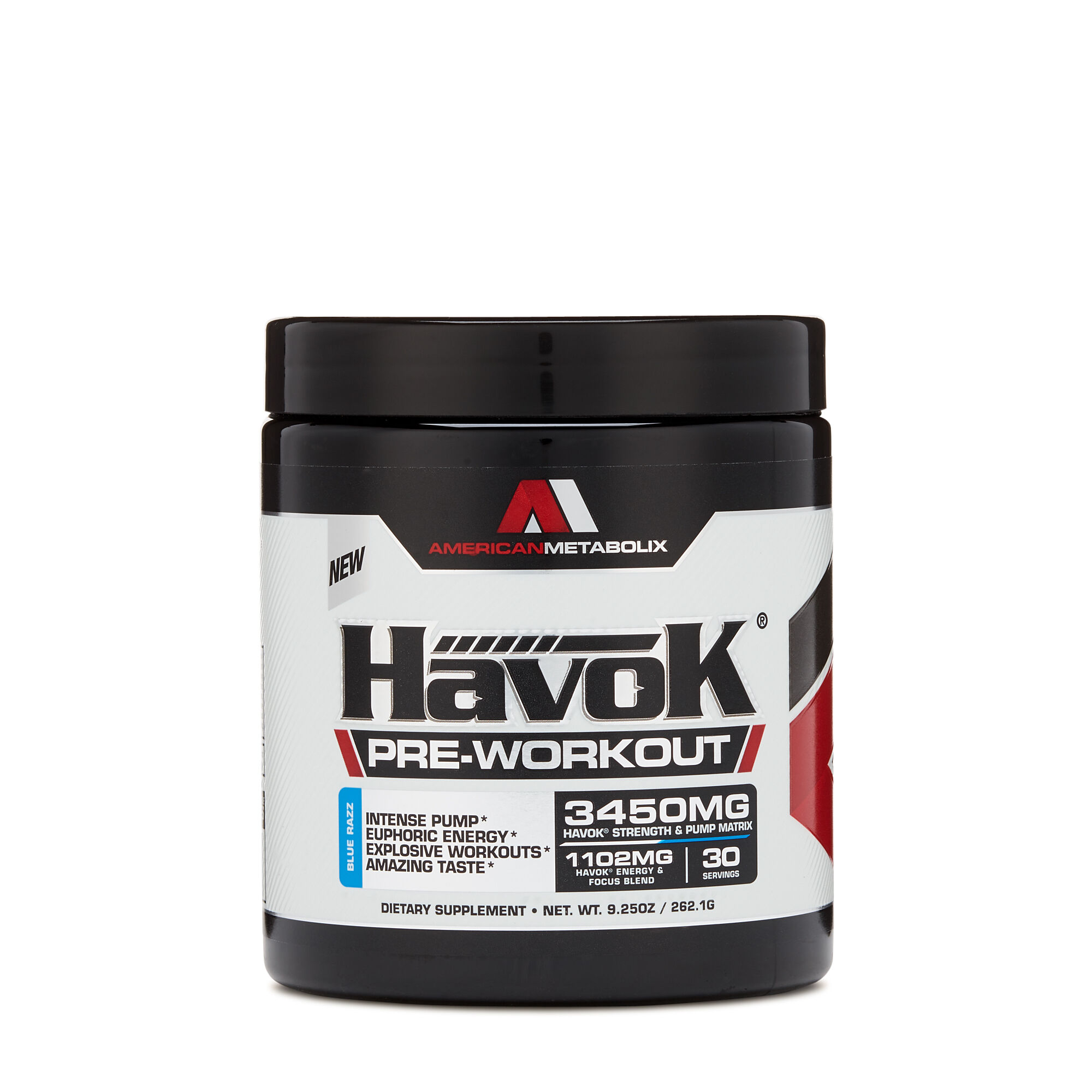 Havok Reg Pre Workout Blue Razzblue Razz Gnc