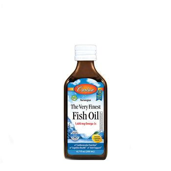 Carlson the very finest fish oil natural lemon flavor gnc for Lemon fish oil