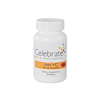 Iron + C 60 mg Chewable - Berry | GNC