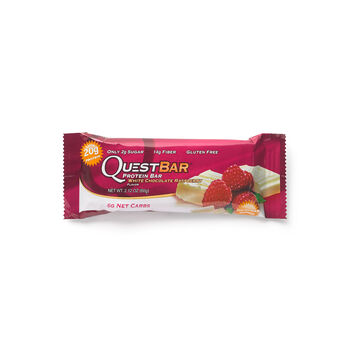 Quest Bar – White Chocolate RaspberryWhite Chocolate Raspberry | GNC