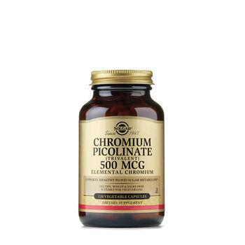 Chromium Picolinate (Trivalent) 500 mcg Elemental Chromium | GNC