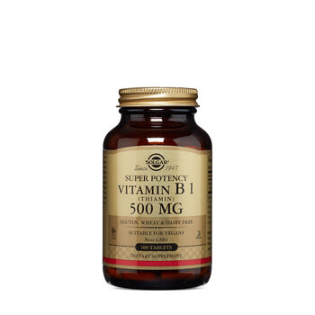 Super Potency Vitamin B1 (Thiamin) 500 MG | GNC