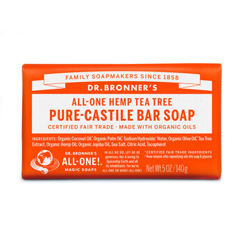 All-One Hemp Tea Tree Pure-Castile Bar Soap | GNC