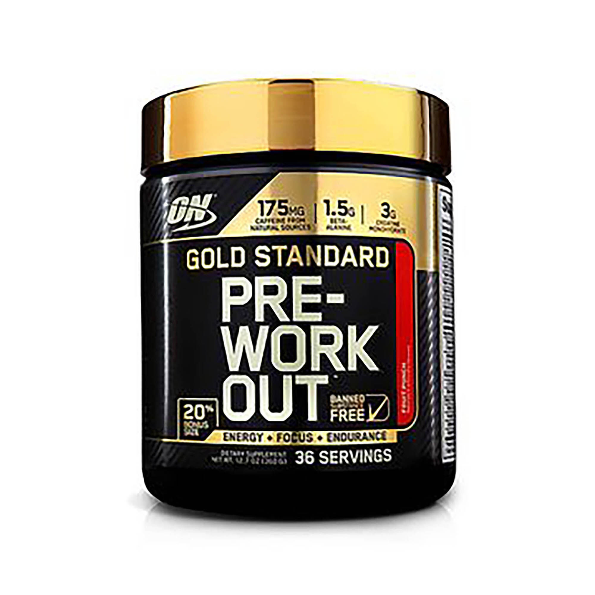 Gold Standard Pre-workoutg�� - Fruit Punch - Exclusive 20% More Free Bonus Size - 36 Servings - Optimum Nutrition - Energy Formulas