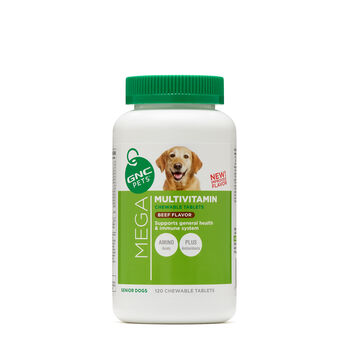 Mega Multivitamin - Senior Dogs - Beef Flavor | GNC