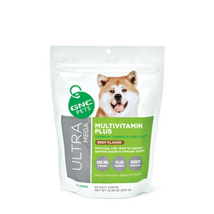 Ultra Mega Multivitamin Plus for All Dogs - Beef flavor | GNC
