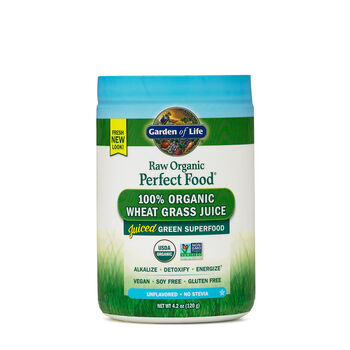Raw Organic Perfect Food® 100% Organic Wheat Grass Juice | GNC