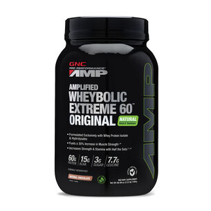 Amplified Wheybolic Extreme 60™ Original - Natural ChocolateNatural Chocolate | GNC