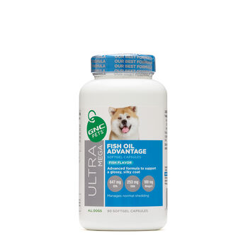 Ultra Mega Fish Oil Advantage for All Dogs - Fish Flavor | GNC