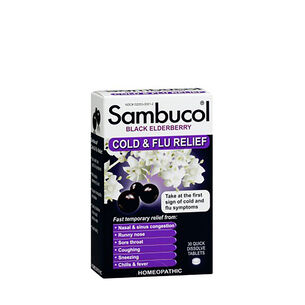 SAMBUCOL® Black Elderberry Cold and Flu Relief | GNC
