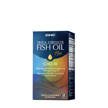 Gnc triple strength fish oil plus coq 10 gnc for Coq10 and fish oil