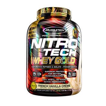 Nitro-Tech™ 100% Whey Gold - French Vanilla CremeFrench Vanilla Creme | GNC